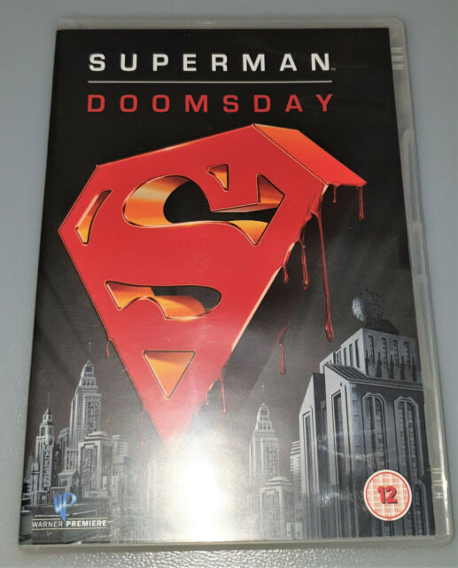 Superman Doomsday DVD DC Comics Animated Man of Steel Cartoon Excellent  Cond.
