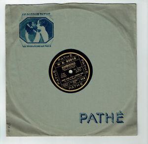 78T-25cm-Andre-BAUGE-amp-Lucienne-GROS-Disk-BEAUMARCHAIS-Manuscript-PATHE-92010