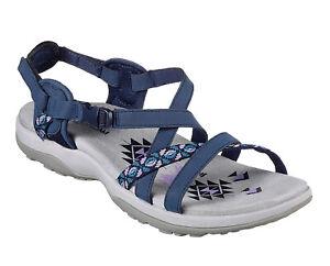 cc924fda16df Skechers NEW Reggae Slim Vacay navy sporty comfort sandals womens ...
