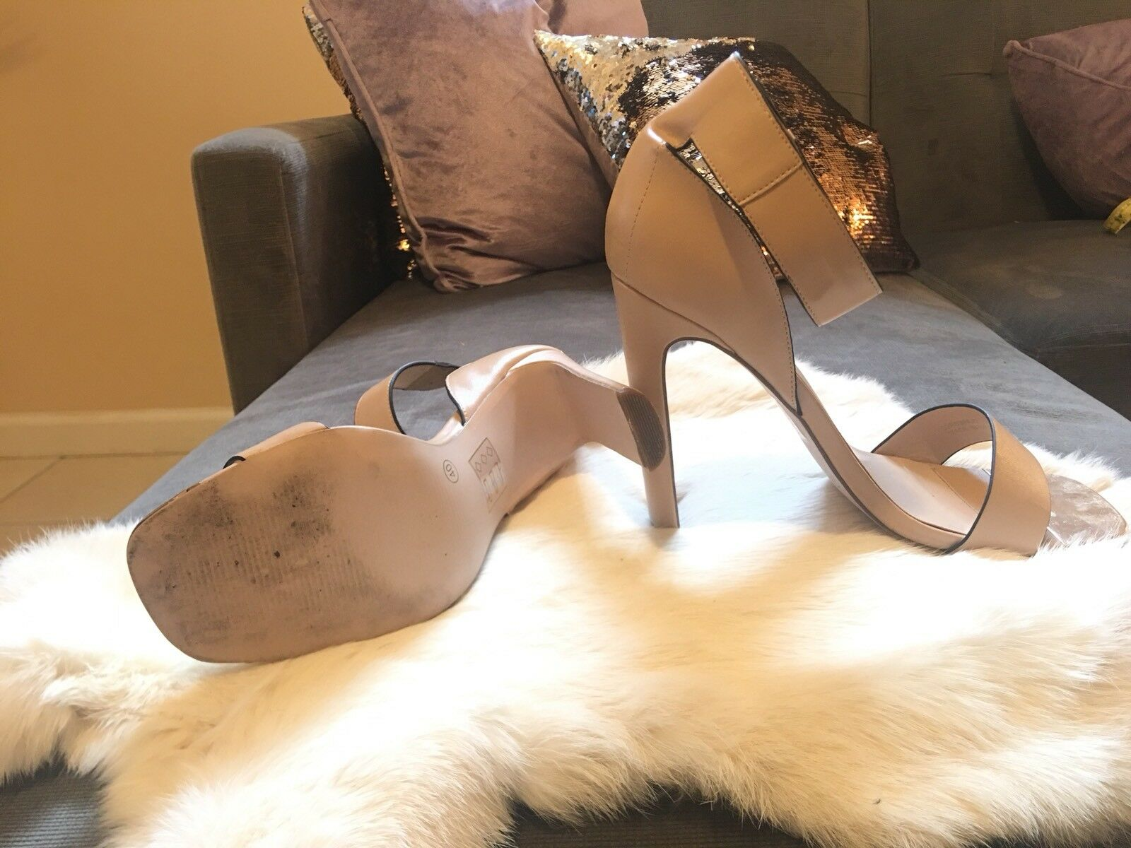 Topshop imported imported imported Nude And Gold Sandal Heels in Nude - Sz. 40 (10 Us) 582fd2