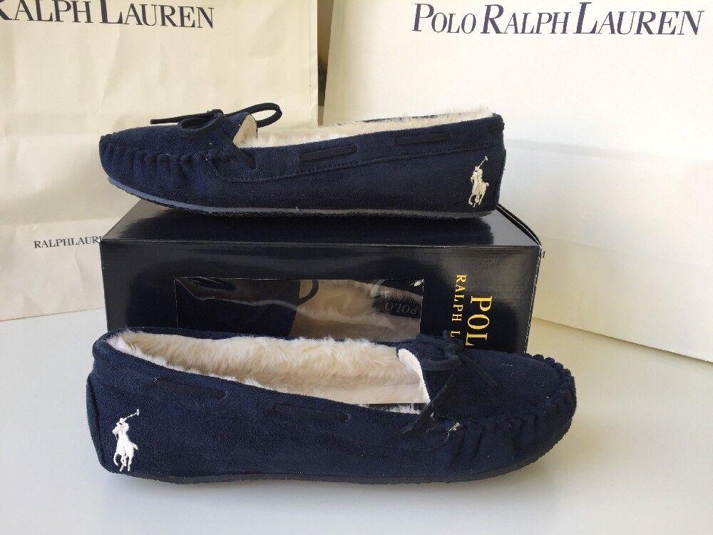 POLO RALPH LAUREN donna nuove originali Merossoith Pantofole Mocassini