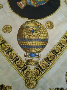 Montgolfieres-85x85-Foulard-en-Soie-Pure-100-Vintage-D-039-Occassion