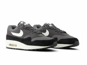 vistazo cómo utilizar embargo  NIKE AIR MAX 1 AH8145 012 THUNDER GREY SAIL WHITE BLACK SUEDE LEATHER MESH  | eBay