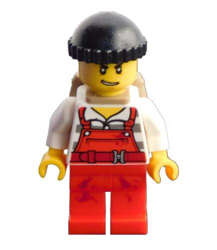 LEGO Uomo BANDIT gangster Ladro rapinatore con Zaino Rosso patta Pantaloni cty746 NUOVO