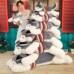 Husky-Siberian-Plush-soft-Toy-Stuffed-Animal-Doll-Pillow-Figure-kid-XMAS-Gift