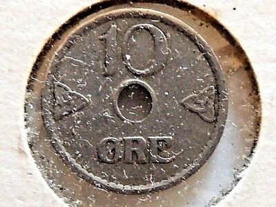 1924 NORWAY 10 ORE Scarce Quality Coin Norway Bin #A