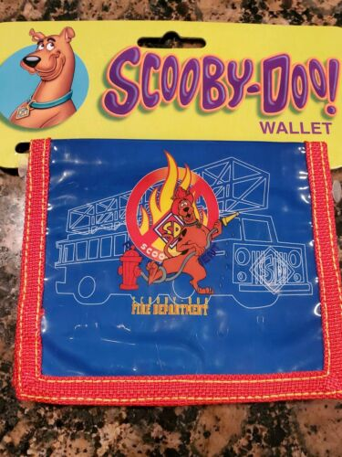"Scooby Doo Fireman Wallet 3/""x5/"" Vintage Tri-fold New in package fee ship"