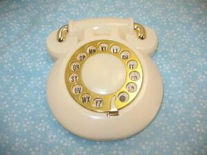 Vintage Phone Address Flip Rotary Dial White French Phone Hong Kong Hard Plastic Ebay