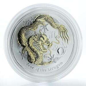 Australia-1-dollar-Year-of-Dragon-Series-2-1-oz-silver-gilded-coin-2012