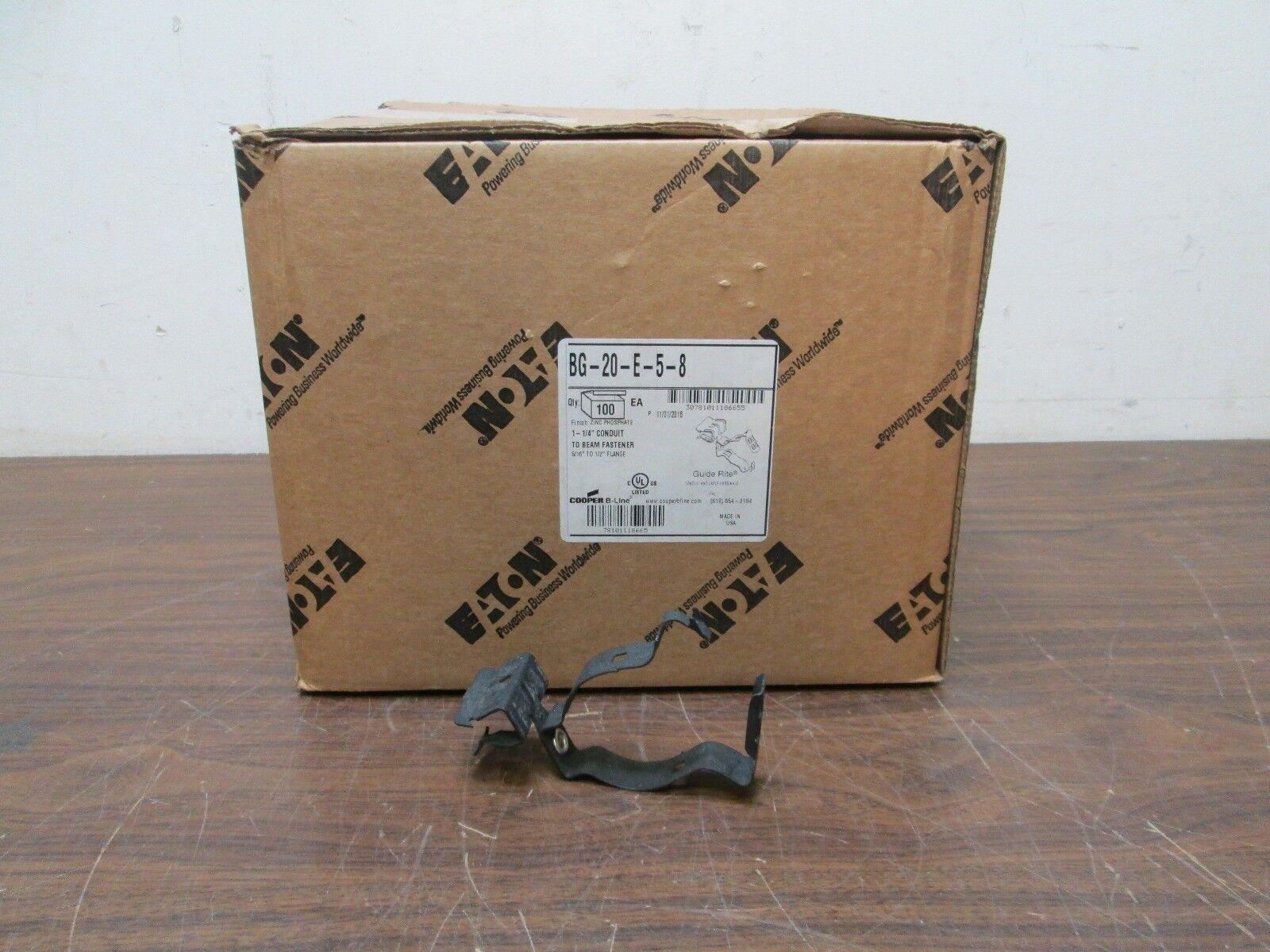 100Pc Cooper BG-20-E-5-8 1-1 4  Conduit to Beam Fastener 5 16  to 1 2  Flange