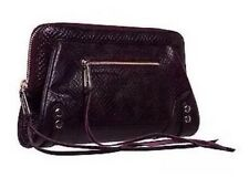 Rebecca Minkoff Purple Python Stamped Print Mason Clutch Bag Handbag Evening NEW