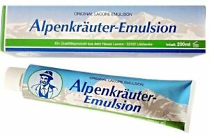 ALPEN-EMULSION-LACURE-Alpenkrauter-ANALGESIC-ANTI-INFLAMATORY-OINTMENT