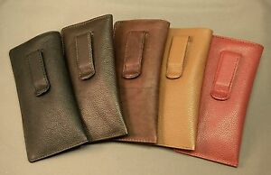 Premium-Leather-Eyeglass-Glasses-Case-with-CLIP-NEW