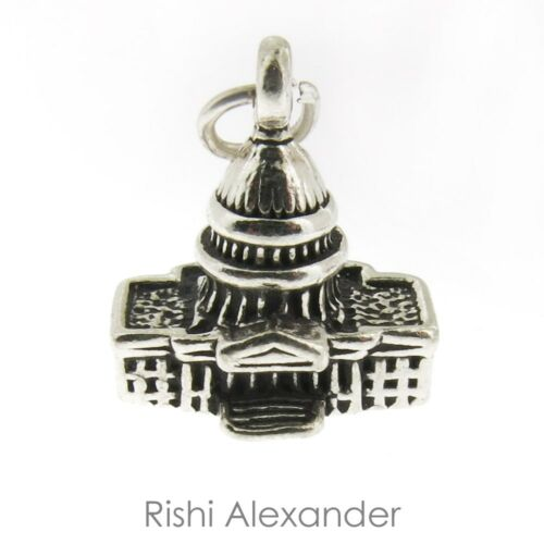 925 Sterling Silver Capitol Building Charm Made in USA