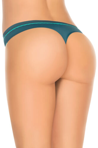 Laura Women/'s Seamless Thong Opposite Color Lace Trim S M L XL Best in Class