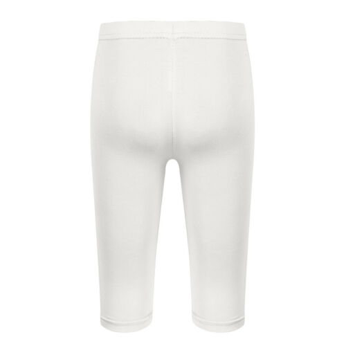 Kids Girls Leggings Solid Color Long//Cropped Pants Stretch Trousers Underpants