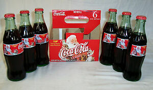 Coca Cola Christmas Bottle.Details About 1999 Coca Cola Christmas Holiday 6 Pack 8 Oz Full Bottles
