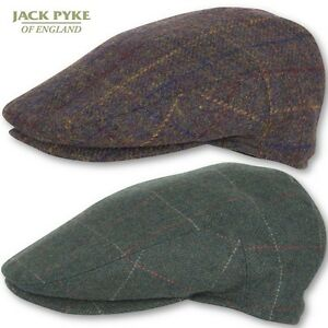 3eb89ac8e Details about JACK PYKE MENS WOOL BLEND FLAT CAP BROWN GREEN CHECK COUNTRY  GAME SHOOTING HAT