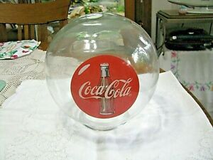 Vintage Coca-Cola Clear Glass Lamp Shade with Coca-Cola Advertising - Must See