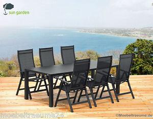 sun garden london gartenm bel 1 gartentisch 160 cm und 6. Black Bedroom Furniture Sets. Home Design Ideas