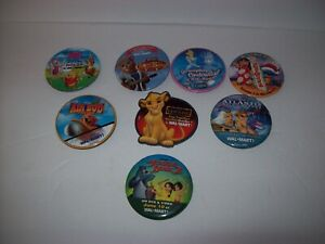 Details about Walmart Employee Pins/Button Vintage Pinback Kids Movies,  Disney Lot