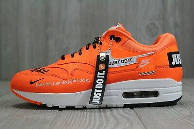 nouveau concept 00312 f72cd 43 Nike Air Max 1 LX Just do It Total Orange Women Running Shoes 917691-800  8-9 | eBay