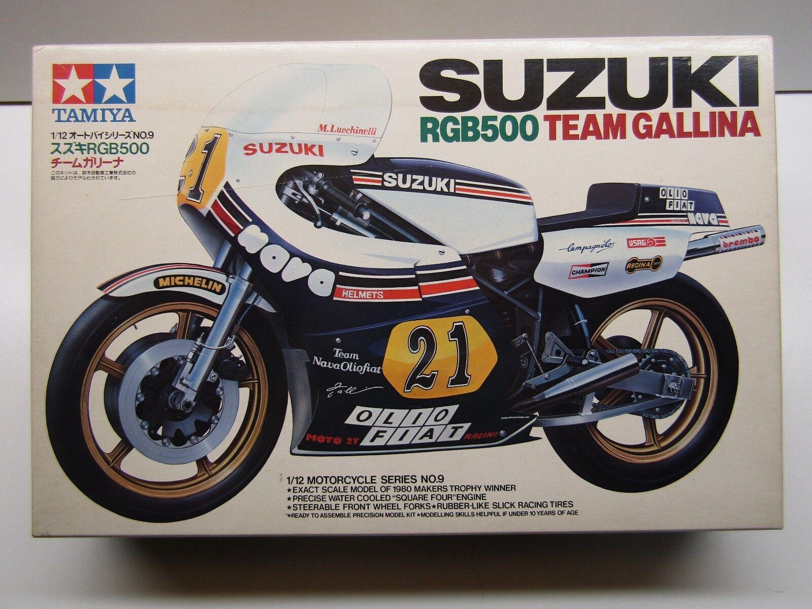 Tamiya Vintage 1 12 Scale Suzuki RGB500 Team Gallina GP Racer Model Kit New 1409