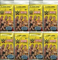 (8) 2016 Topps Wwe Heritage Wrestling Trading Cards 16ct. Fat Pack Lot