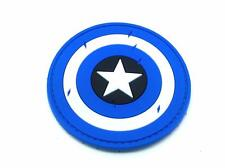 Captain America Blue Emblem Cosplay PVC Airsoft Patch