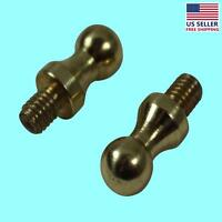 Cabinet Hinges Solid Brass Small Ball Hinge Finial Pair | Renovator's Supply on sale
