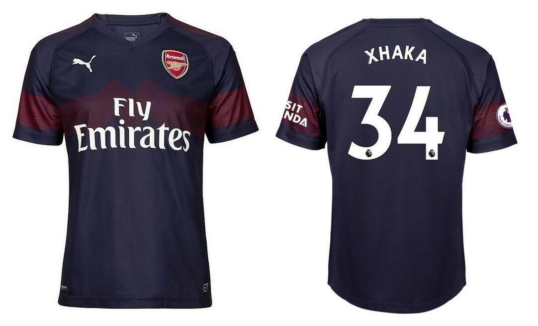 Trikot Puma Arsenal London 2018-2019 Away - Xhaka 34  Premier League