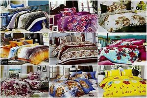 ValueX 3D PolyCotton Double Bed Sheet With 2 Pillow Covers (20 Design Options)