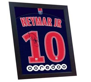 a30e6f76080 Neymar t-shirt Paris Saint Germain signed Framed PRINTED on CANVAS ...