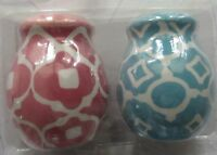 Pink & Blue Easter Porcelain Hobby Lobby Salt & Pepper Shakers