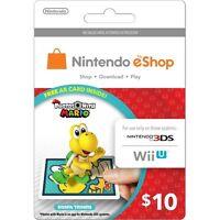 $10 Us Nintendo Eshop Gift Card