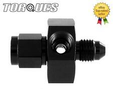 """AN -4 (AN4) Male to Female Twin 1/8"""" NPT Gauge / Sensor Side Port Adapter Black"""