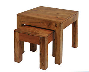 Image Is Loading Nest Of Tables Rustic Lamp Side End Table