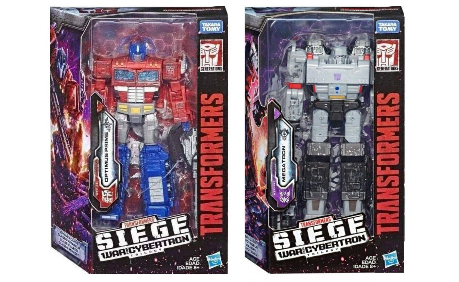 Transformers GUERRA per Cybertron Cybertron Cybertron D'ASSEDIO VOYAGER OPTIMUS PRIME e Megatron f9b86f