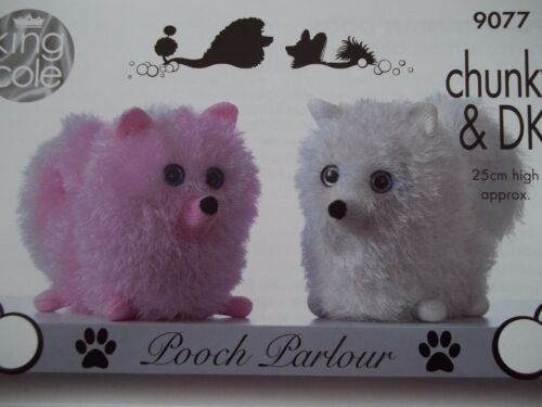 POOCH PARLOUR CHIHUAHUA DOG TOY KNITTING PATTERN TINSEL YARN  KING COLE 9077