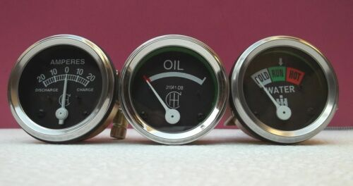 IH / Farmall A,B, Super A, Super A1 Gauges-Temperature 24 Oil Screwin Ammeter