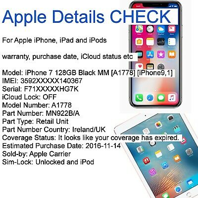 Apple iPhone, iPad and iPod Details