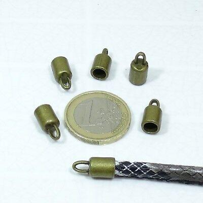 20 Terminales Para Cordon 15x8mm T270 Plata Tibetano End Caps Beads Pelle Cuir