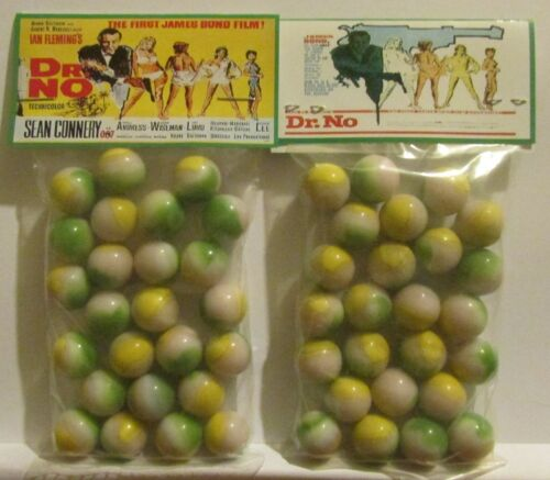 2 Bags Of James Bond Dr No Sean Connery Film Promo Marbles