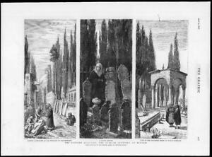 1876 Antique Print  CONSTANTINOPLE Scutari Cemetery Tomb Sultan Mahmoud  90 - KENT, United Kingdom - 1876 Antique Print  CONSTANTINOPLE Scutari Cemetery Tomb Sultan Mahmoud  90 - KENT, United Kingdom