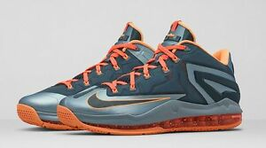 pretty nice c0b98 b994a Image is loading Nike-Air-Max-LeBron-11-Low-MAGNET-GREY-