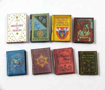 1st YEAR HOGWARTS TEXTBOOKS Dollhouse Miniature Books 1:12 Scale Wizard POTTER