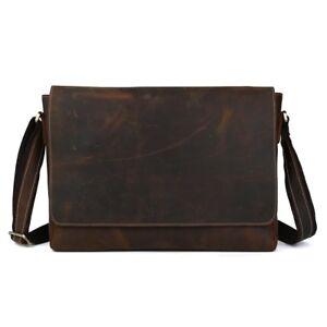 Vintage-Leather-Men-Office-Shoulder-Messenger-Bag-15-034-Laptop-Briefcase-Satchel