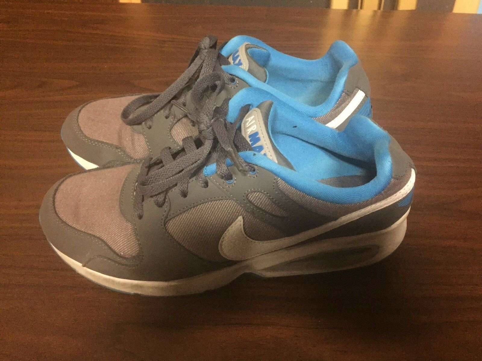 The latest discount shoes for men and women Nike Air Max White Grey Blue Shoes Men's size 8.5