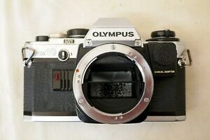 Olympus-OM10-SLR-Film-Camera-Body-Only-for-Spares-or-Repairs