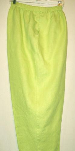FLAX FLOODS P S L fits S M XL Hanky light Summer weight COLORS crop linen pants